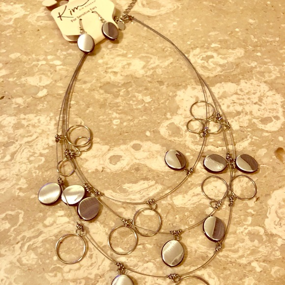 Kim Rogers Jewelry - 3/$10 NWT Silver with black necklace and earrings